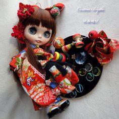 Kyohiro custom Blythe ☆ silk antique kimono ☆ toy play ♪   #middieblythe #customblythe
