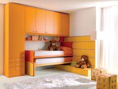 Cameretta arancione ~ I colori adatti per le pareti di casa cameretta blu grigio