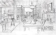 White Collar early design of Neal's apartment