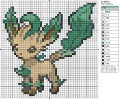470 - Leafeon by Makibird-Stitching