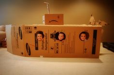 how to make a submarine with cardboard