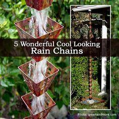 5 Wonderful Cool Looking Rain Chains