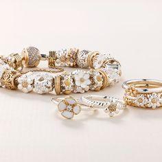 Flourish collection by Emma & Roe Pandora Bracelet Charms, Charm Bracelets, Beaded Bracelets, Fashion Jewellery Online, Flourish, Jewelery, Wedding Rings, Rose Gold, Charmed