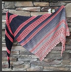 Ravelry: Where We Meet Shawl pattern by In the Yarn Garden Crochet Shawls And Wraps, Knitted Shawls, Crochet Scarves, Crochet Clothes, Crochet Chart, Crochet Patterns, Knitting Patterns, Crochet Beanie, Knit Crochet