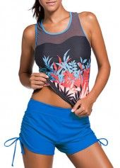 Racer Back Printed Top and Shorts on sale only US$27.98 now, buy cheap Racer Back Printed Top and Shorts at lulugal.com