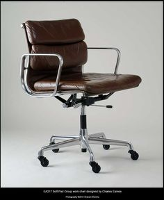 Charles Eames Soft Pad Group Work Chair Model Ea217 Aluminium Frame