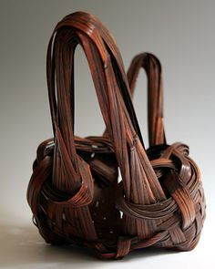 BambooTokyo.com - Japanese Bamboo Basket - Bamboo Art, Bamboo Crafts, Japanese Bamboo, Japanese Flowers, Bamboo Basket, Wicker Baskets, Contemporary Baskets, Japanese Aesthetic, Shape And Form