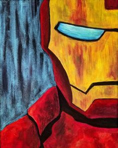 Iron Man Painting by Cam Harpold - Marvel Comics Superhero Painting, Iron Man Art Paint, Marvel Art, Art Painting, Iron Man Painting, Iron Man Drawing, Marvel Paintings, Painting, Canvas Painting