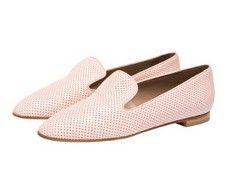 Sherbet Pink Italian slipper loafers