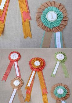 Prize ribbons DIY