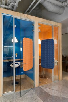 VicOffice Wall is a thin acoustic panel that can be easily installed in any glazed panel Productivity In The Workplace, Acoustic Panels, Workspaces, Divider, Wall, Projects, Room, Furniture, Home Decor