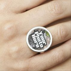 Personalized Full-Color Custom Photo Ring