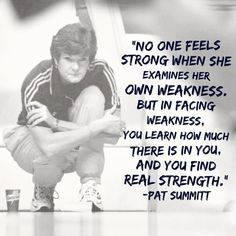 "Amy Poehler's Smart Girls on Instagram: """"No one feels strong when she examines her own weakness. But in facing weakness, you learn how much there is in you, and you find real strength."" - #PatSummitt ❤️"""