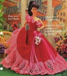 barbie crochet ball gown patterns free - I have to make this soon. Use varigated crochet cotton or embroidery thread for trim