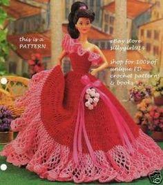 barbie crochet ball gown patterns free | barbie crochet ball gown patterns free - Bing ... | crochet bed dolls