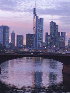 Frankfurt-Am-Main Skyline, Hessen, Germany,