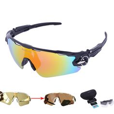 5e450a8462b8e New 4 Lens Polarized Cycling Sunglasses Photochromic Racing Glasses Bicycle  Bike Riding Eyewear Brand Designer Ciclismo