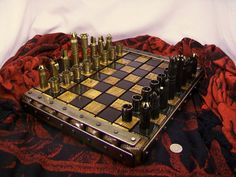 50 caliber BMG bullet shell chess set With steel by OldeWorldCC