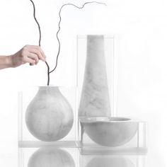 Moreno+Ratti+suspends+marble+volumes+inside+resin+blocks