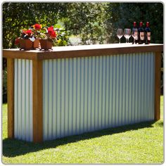 Country Galvanized Tin Portable Bar available from Beverage Events