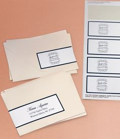 Heres An Beautiful Way To Address Your Wedding Invitations Using Avery Wraparound Label And
