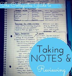 What you need to know about taking notes in college.