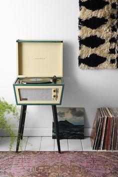 UO X Crosley Sterling Vinyl Record Player