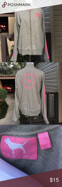 Victoria's Secret Pink jacket Very nice like new zip front jacket. 100% cotton no stains or holes Pink by Victorias Secret Jackets & Coats