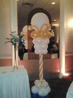 White and Gold Column