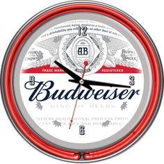 Found it at wayfair budweiser pub table ii man cave pinterest budweiser chrome double rung neon clock label design watchthetrailerfo