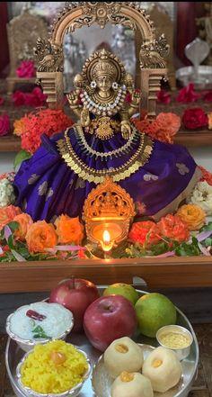 Diy Diwali Decorations, Festival Decorations, Mandir Decoration, Indiana, Silver Pooja Items, Pooja Mandir, Navratri Images, Pooja Room Door Design, Lakshmi Images