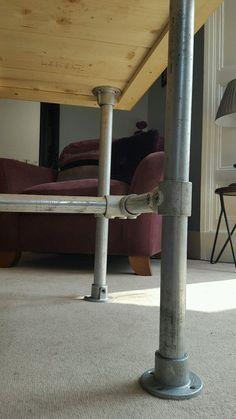 Bespoke Reclaimed Industrial scaffold dining table desk 6ft