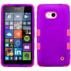 MYBAT TUFF Hybrid Microsoft Lumia 640 Case - Grape/Pink