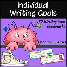 In this resource you will find 70 specific individual writing goal bookmarks PLUS 2 individual goal tracker charts to help your students think about and improve upon their writing skills. These bookmarks are written in easy to understand child friendly words and are suitable for