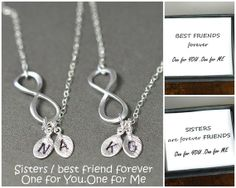 Personalized Infinity Necklace, Initial Necklace, Mother's Necklace, Monogram Necklace, Friendship, Leaf Charm, Personalized Jewelry,