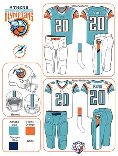 Fantasy Football: Global Relocations (Uniforms added - Page 3 - Concepts - Chris Creamer's Sports Logos Community - CCSLC - SportsLogos. Football 101, Nfl Football Helmets, Football Uniforms, Sports Uniforms, Fantasy Football Logos, Fantasy Football League, Sports Team Logos, Sports Teams, Notre Dame Leprechaun