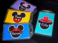 Disney Mickey Mouse Luggage Tag, Bag Tag, backpack tag- Personalized on Etsy, $5.00
