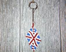 Union Jack United Kingdom Flag Keyring, Handmade Bead work Accessory