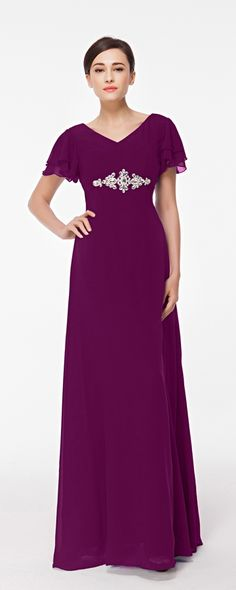 Modest bridesmaid dress with sleeves magenta bridesmaid dress long autumn wedding bridesmaid gowns