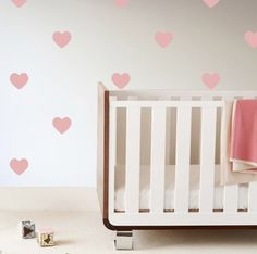 Heart Wall Decals in Pink - what a darling way to add a girly touch to the nursery without breaking the bank!