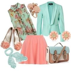 MInt and Coral | Fashion & Style | Pinterest