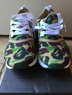 ef86fe9fa New with tags Adidas NMD X Bape the green bathing ape size 11. America  Donalson · Athletic Shoes