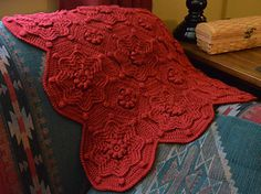 OR... Make this into a Sweater, Coat, or house robe.    So many possibilities.   Versailles Matelassé Afghan by Priscilla Hewitt  on raverly  pattern fee... Or design your own with Granny Squares.