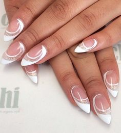 New Trendy White Prom Nail Designs