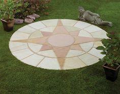 Mini Star Circle Natural Stone Patio Paving Kit 1.8m | Internet .