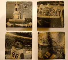 Baylor University Bears vintage coasters