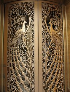 if my home were of gold-i'd have this peacocks-door