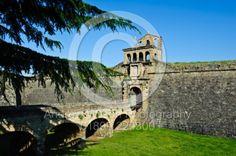 The old fortified, walled city in Jaca, in North Eastern Spain n