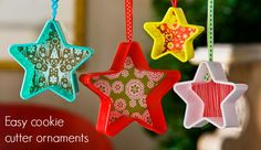 DIY Cookie Cutter Ornaments for Less than a  dollar
