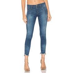Siwy Marie Claire Skinny Jean (321 AUD) ❤ liked on Polyvore featuring jeans, skinny fit jeans, frayed hem skinny jeans, frayed skinny jeans, siwy and blue skinny jeans